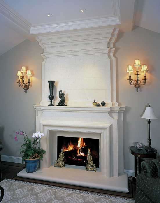 Normandy Mantel, Over Mantel & Hearth