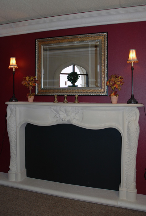 French Swan Mantel