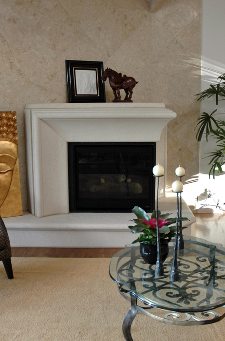 Custom Corner Two-way Mantel
