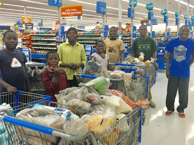 Assisted over 400 refugees with food -