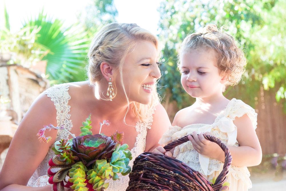 Bride and Flower Girl Wedding | Washington DC Photographer | Wedding Lifestyle & Fashion Photographer