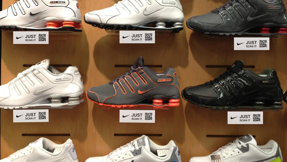nike shoes qr code