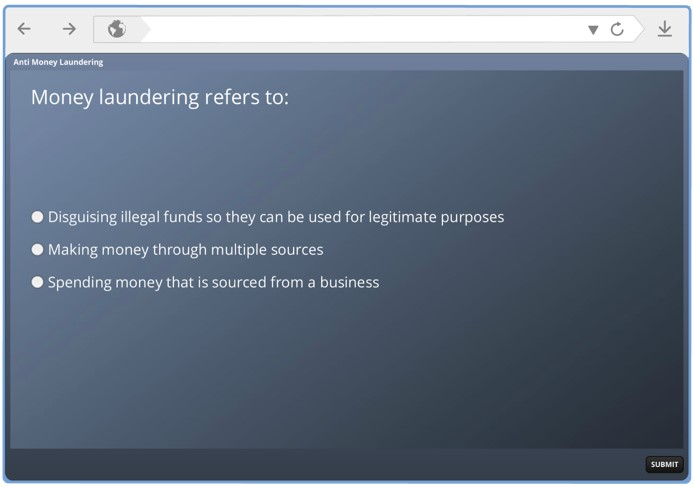 money laundering good bad ugly elearning