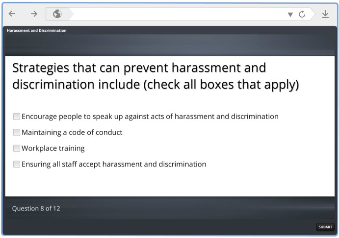 harassment good bad ugly elearning