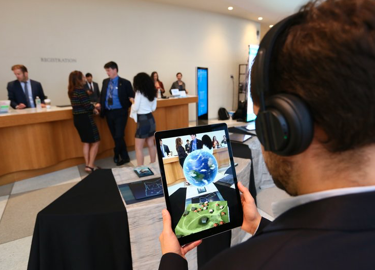 Augmented Reality Installation at United Nations, NYC