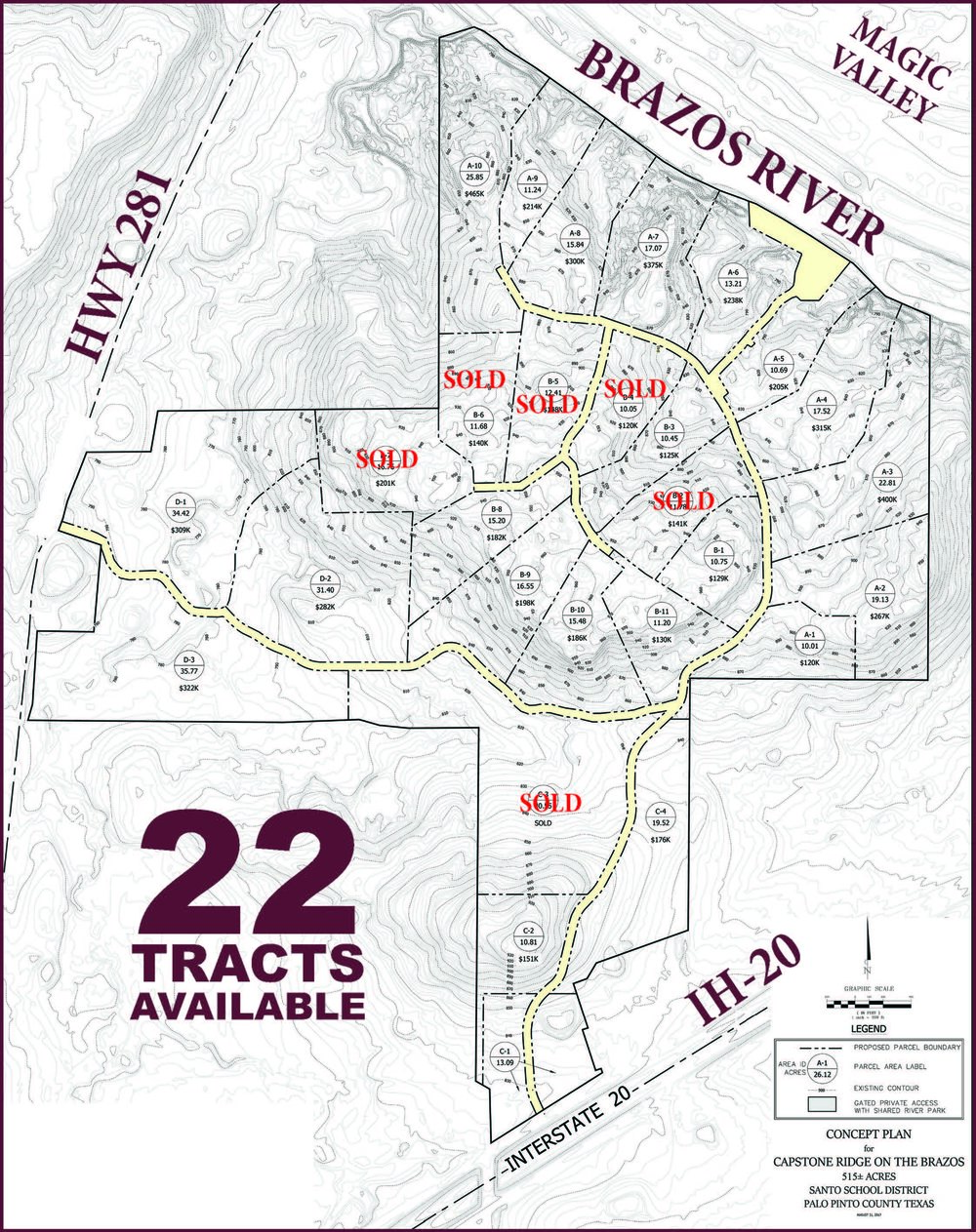Capstone Ridge Tract Map