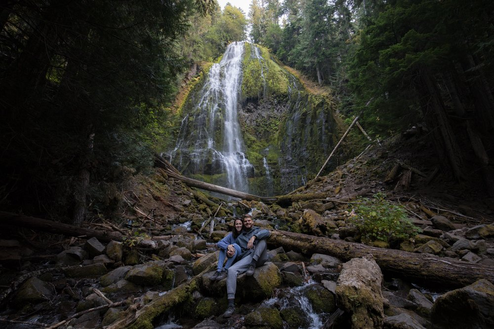 Austin & Kaite at Lower Proxy Falls