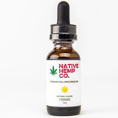 2. Native Hemp Co. Premium Full Spectrum CBD Oil (1500 mg) - Don't let anxiety or pain get in the way of living your best life. Try Native Hemp, a full spectrum, THC-free hemp oil made from 100% organic PCR hemp flower. With a generous 50mg of CBD, it more than triples the strength of most CBD products on the market to calm severe anxiety, inflammation, and pain conditions.