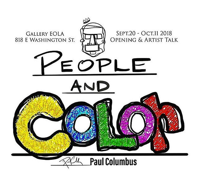 "So pleased to be hosting some more work by local artist Paul Columbus for this next show! Join us this Thursday, September 20, from 7-10pm for the opening of his solo show 🤩 ""People and Color"" by @paulcolumbus will be up for the next few weeks, come by this Thursday for the opening! The artist will be present as well if you have any questions for him 😎"