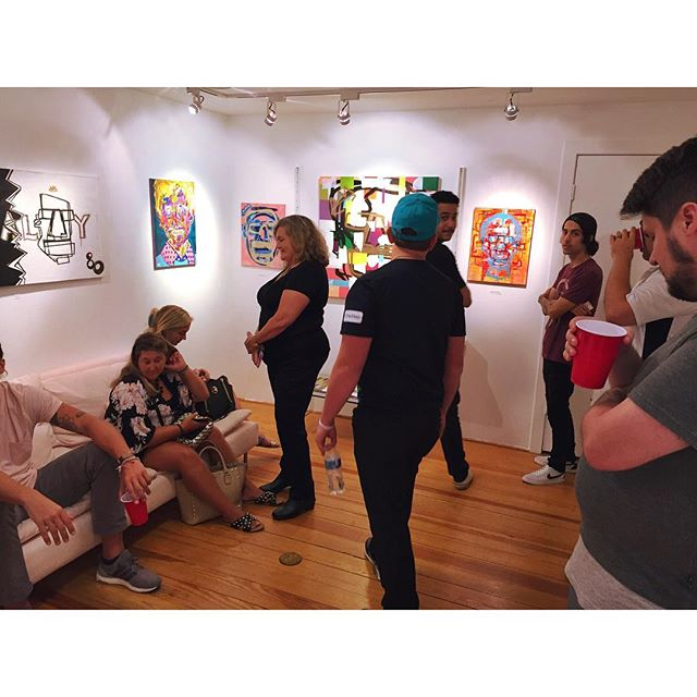 Thank you so much everyone for coming out to the opening reception of People and Color, a solo show featuring work by local artist @paulcolumbus 🌟 The entire show will be up for the next few weeks, come check it out on Thursdays/Fridays from 4:30pm - 9:30pm, and Saturdays/Sundays from 11am to 4pm!