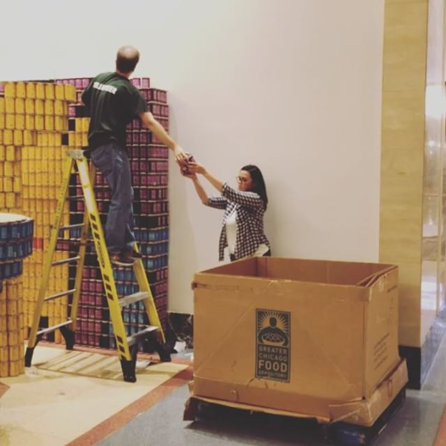 Decanstruction is well underway. Another huge thank you to all of our teams for their amazing work this year. 150,000+ cans are making their way to @fooddepository to help them in their mission to end hunger in our community. Is it too soon to start our countdown to #BuildNight2019🥫? #candrive #endhunger #endhungernow
