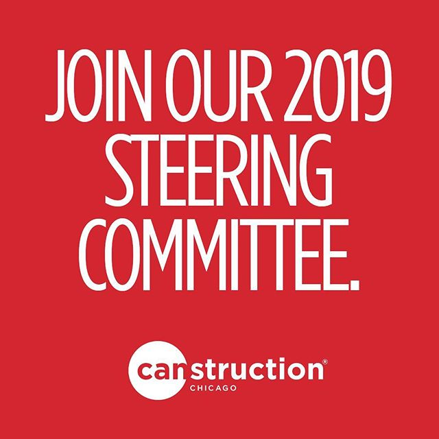 Canstruction 2019 is coming. We'll be sharing details soon. As we get moving with planning an even bigger and better event than last year, we need your help. Our event continues to grow and we're seeking volunteers to join our Steering Committee. It's an awesome opportunity to get involved. We're looking for people to help with graphic design, marketing, public relations, social media, and/or sponsorship. Email us at canstructionchicago@gmail@com for more information.