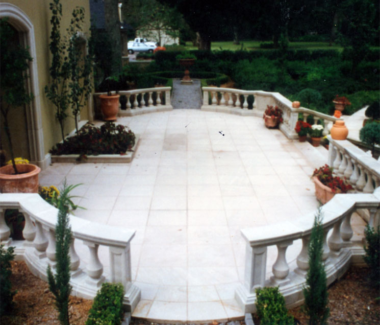 Cast Stone Balustrades-Patio B-007