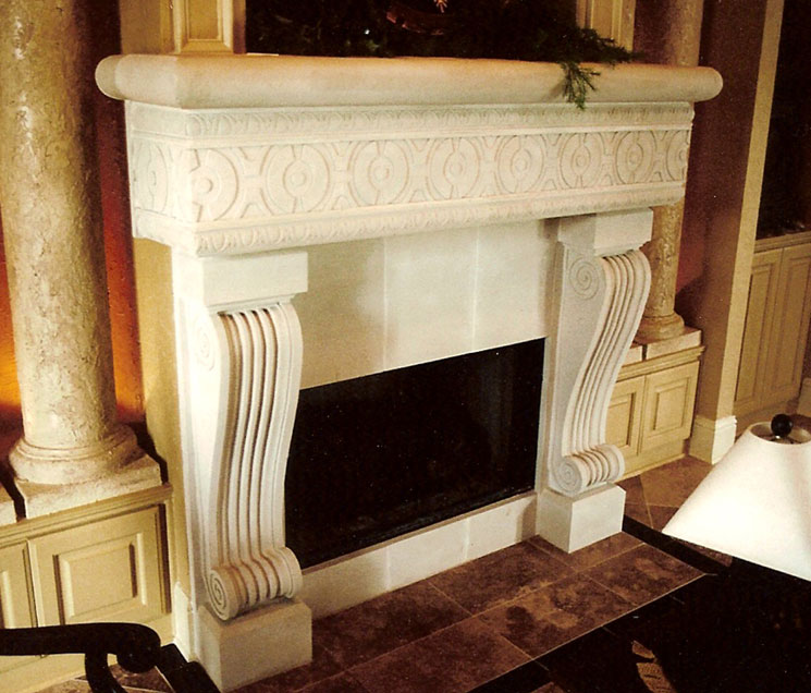 Cast Stone Fireplace-Calliope 001