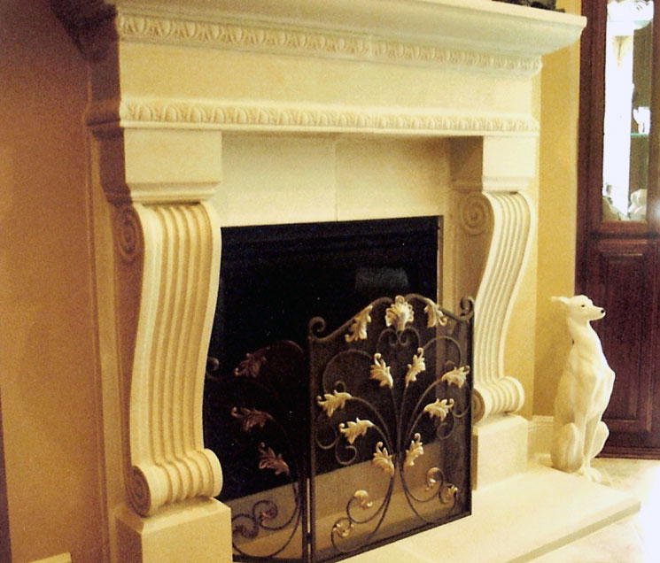 Cast Stone Fireplace-Audubon-005