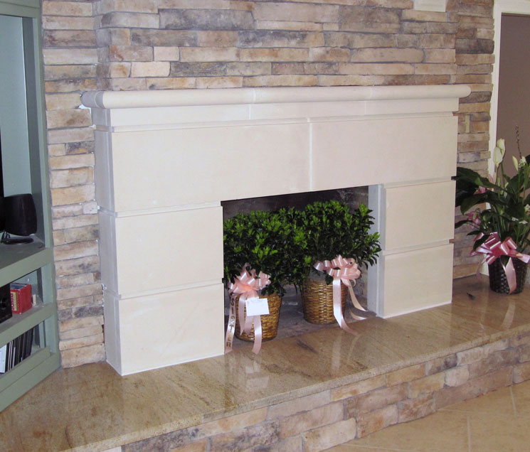 Cast Stone Fireplace-Contempo-010