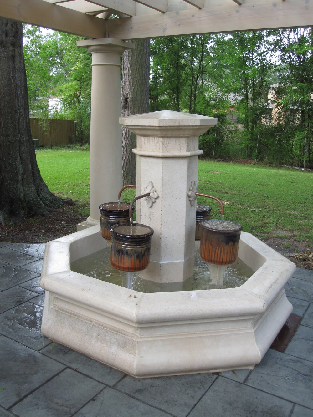 Cast Stone Fountain-French Style 01