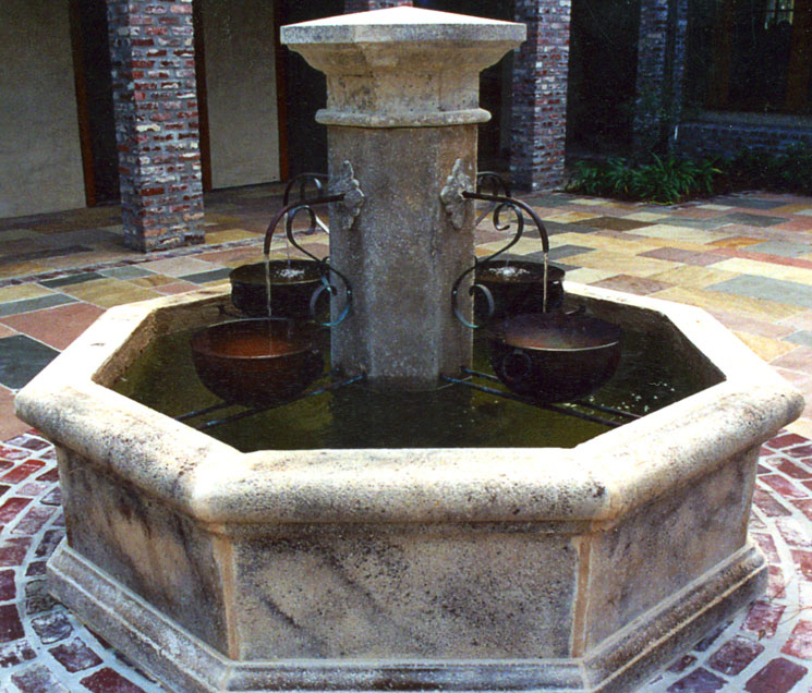 Cast Stone Fountain-Rustic French 02