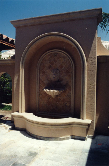 Cast Stone Fireplace-Arched 04