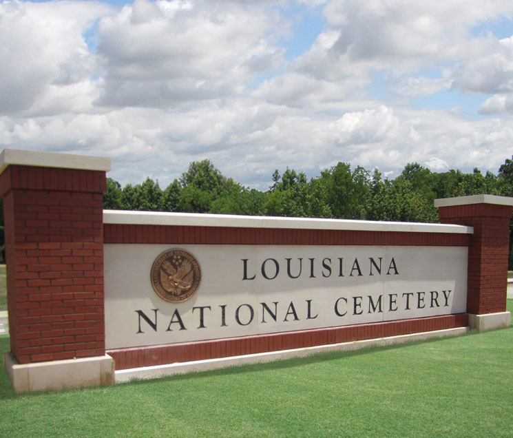 Precast Sign-Louisiana National Cemetery S-001