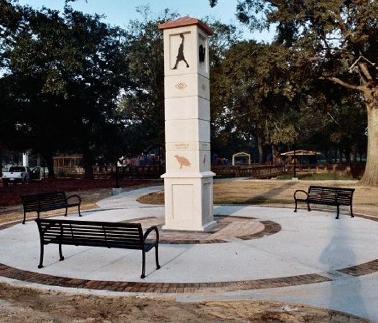 Precast Obelisk Sign LSU S-002