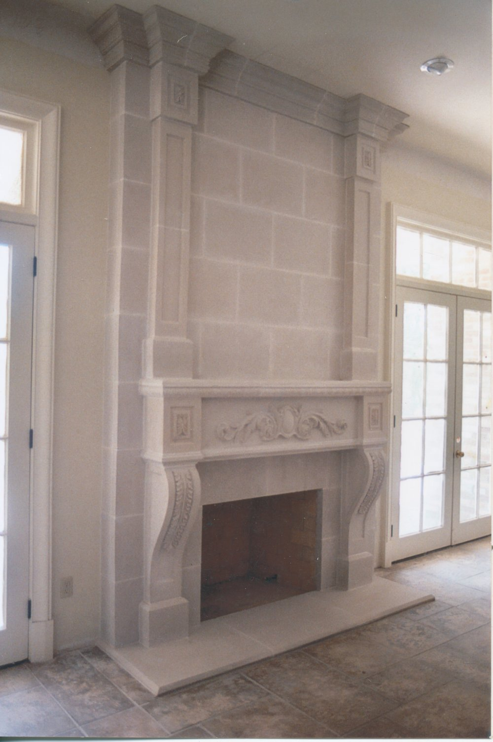 Cast Stone Fireplace-Trinity-019