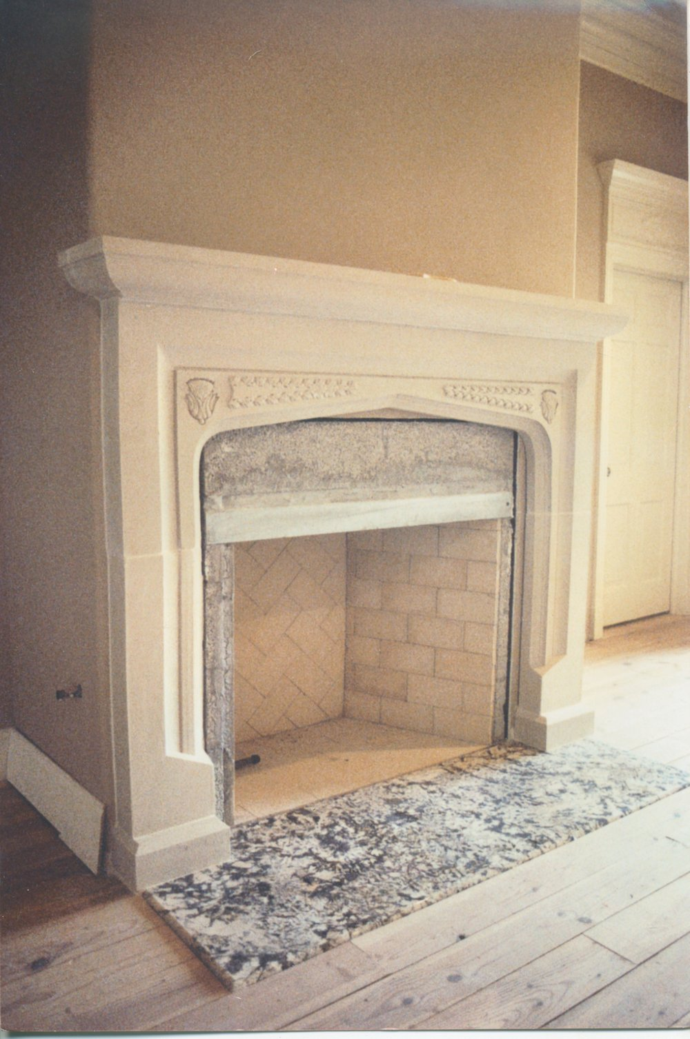 Cast Stone Fireplace Early Tudor-020