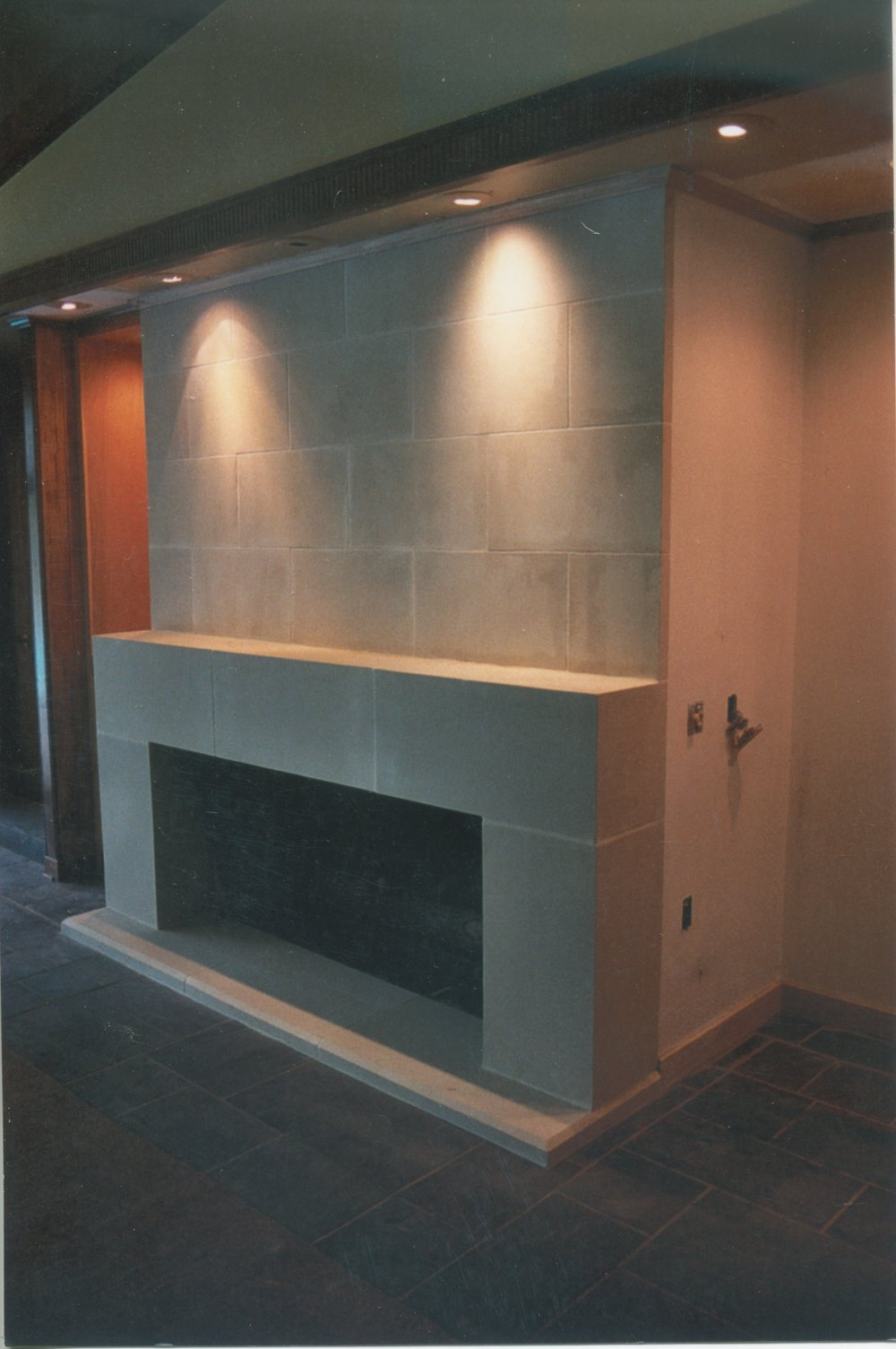 Cast Stone Fireplace-Modern-022