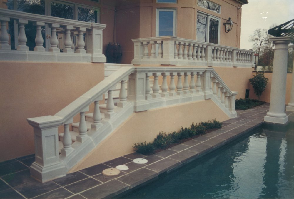 Cast Stone Balustrades-Poolside B-011