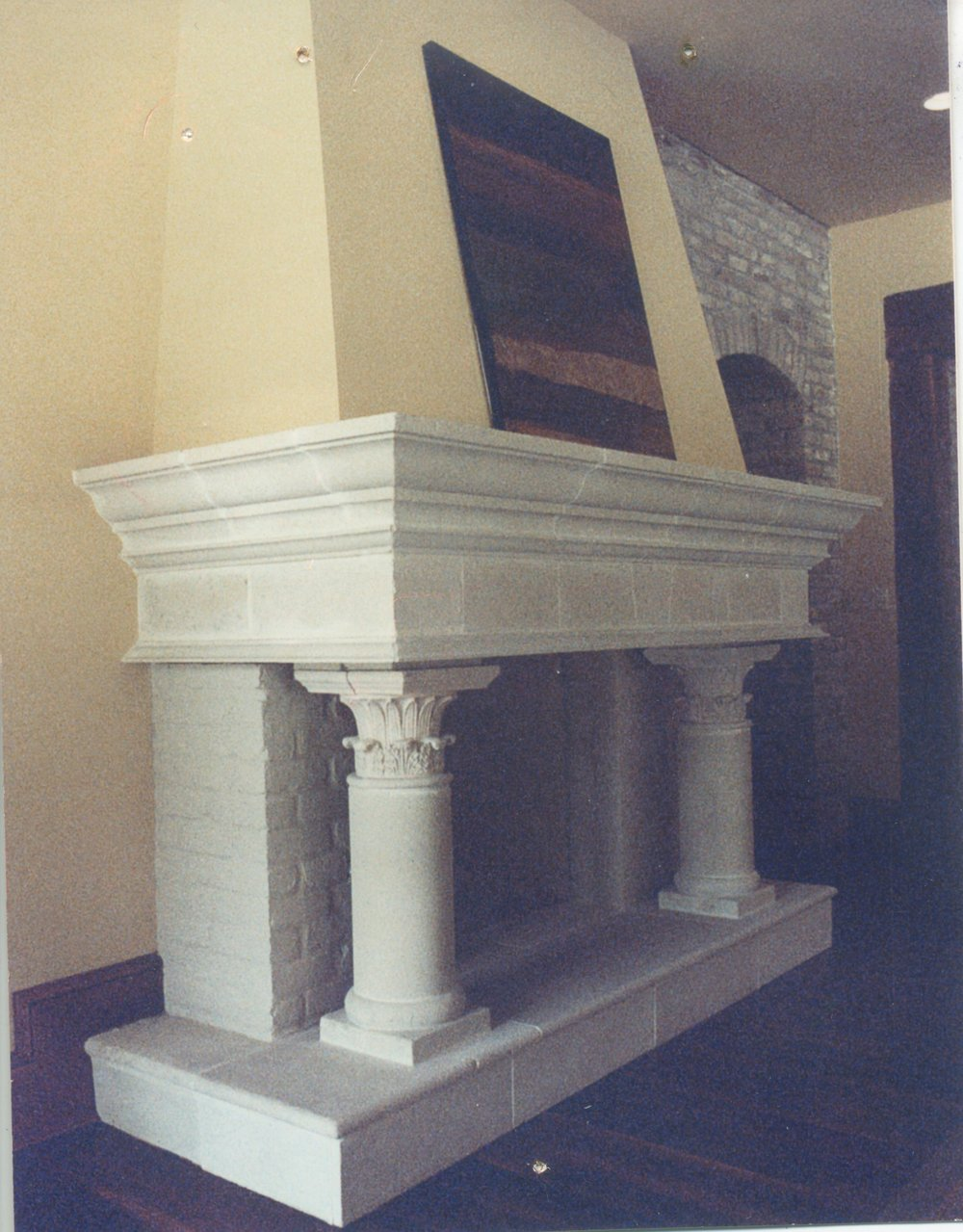 Cast Stone Fireplace-Hays Town 2-0023