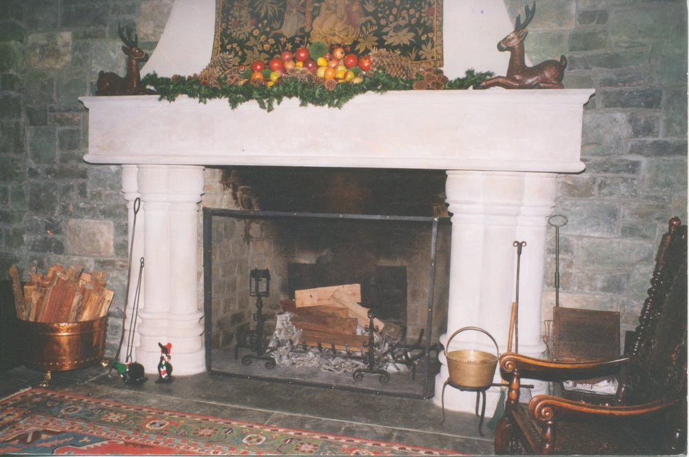 Cast Stone Fireplace-Kenlock-0025