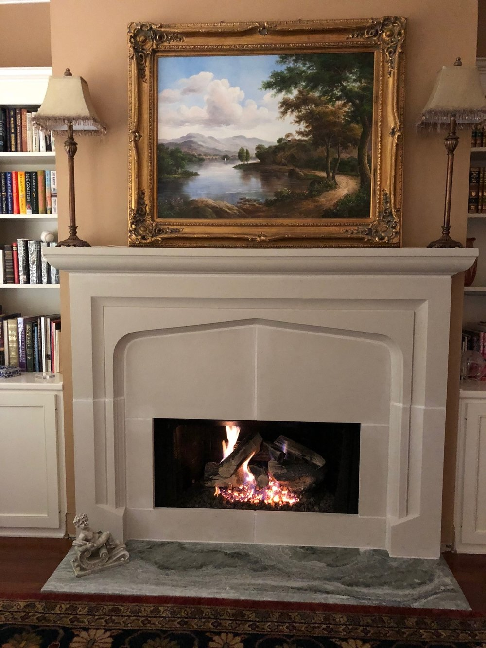 Cast Stone Fireplace -Todd 0026