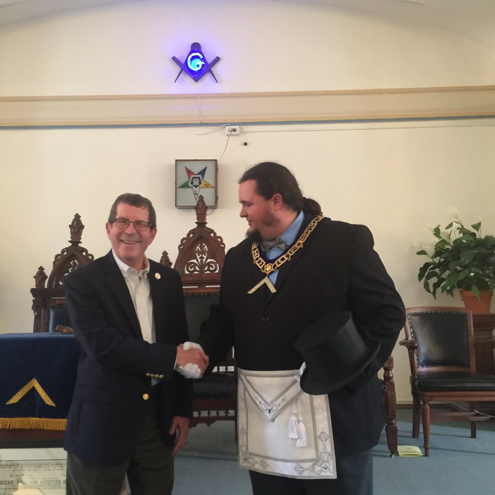 WM Spencer Hamann and Mayor Terry Weppler