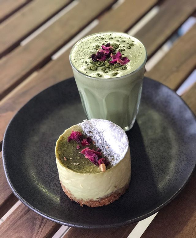 Why not warm up on this cold day with our matcha latte, and treat yourself to our matcha cheesecake while you're here 😉