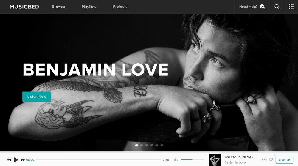 BENJAMIN LOVE MUSIC BED