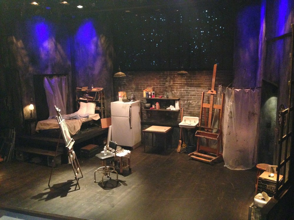 Set pre-lit awaiting audience.