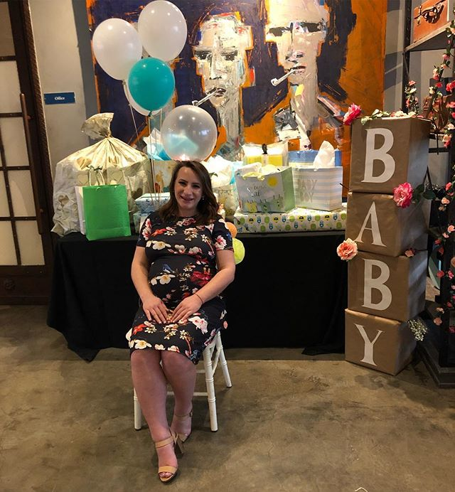 Happy baby shower to this amazing girl and the two looming guys watching her in the distance.