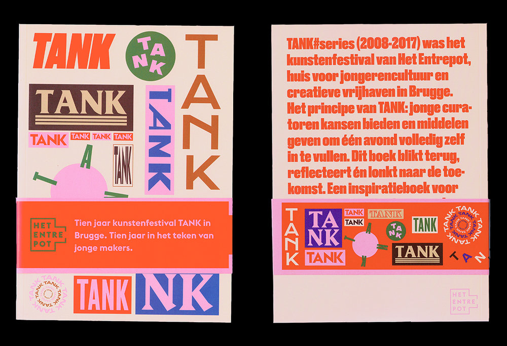 Davy Duyver inspo found on AIGA - color palette and type