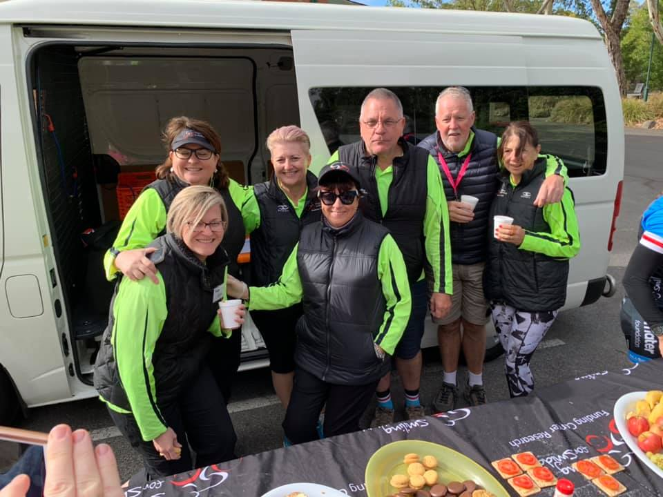 Some of our legendary road crew that look after us every day on our rides, from getting us ready and feeding us in the morning, to feeding us throughout the day, as well as driving the lead and tail cars to keep us safe on the road, and so much more…