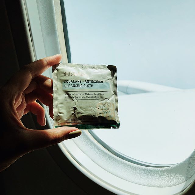 Holiday vibes heree! Been planning this trip since last year, hope it will be as fun as we're expected 😂  This trip is one of my longest-flight, and I packed several travel friendly skincare products to refreshed my dehydrated skin. See the picks: ✈️ Face wipes/cleanser: #biossanceskincare Squalane + Antioxidant Cleansing Cloth This is my very first time trying Biossance (this clean skincare carries vast range of products with Squalane as the key-ingredients). For the cloth, I was expecting muslin like material, turns out, their cloth is a regular 'wet-tissue' fiber. What I really like about this cleansing cloth, it came in the sachet package so it won't take a lot of space in your bag. It also infused with squalane, olive oil, sunflower seed oil and  rice extract ✈️Face mist:#avene Thermal Spring Water ✈️Face serum: #biossanceskincare Squalane + Vitamin C Rose Oil Face serum that can help to rejuvenate tired and dull skin. Made of pure plant-based squalane, vitamin C and rose canina extract to brighten complexion ✈️Multi-purpose Balm: #olioeosso No.5 My second favorite multi-purpose balm aside Glossie Balm Dotcom, made of olive oil; this balm can be used as cheek-blush or even tinted lip balm #skincareroutine #skincarecommunity #itgtopshelfie #greenskincare #cleanskincare #naturalskincare #organicskincare #skincareblogger #cleanbeauty #greenbeauty #skincaregram #reissue