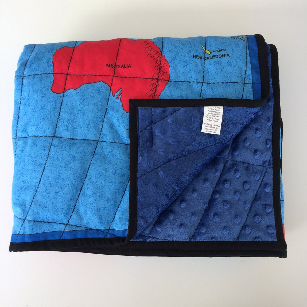 Weighted Map of World Quilt from $350 - Made to order — Wendy\'s ...