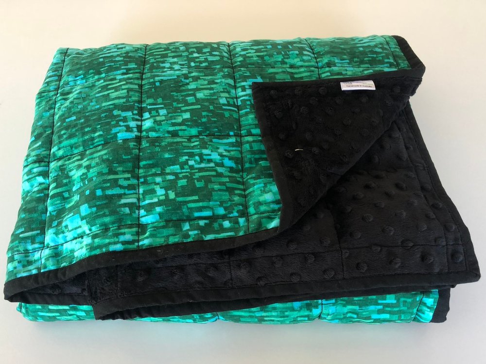 Weighted quilts150 cm x 100 cm or XL 170 cm x 110 cm approx.Stock items or Custom Made in your choice of fabrics. -