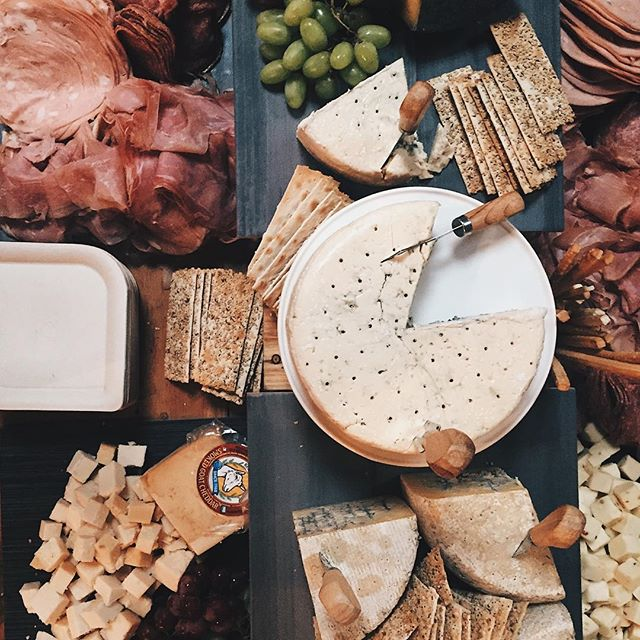 take us back to last week with all the cheese + meats 🙌🏼 . . .  #eventsatforager #bayareawedding #californiabride #weddingvenues  #sjforager #eventplanner #rusticweddingdecor #foodies #cheeseboard