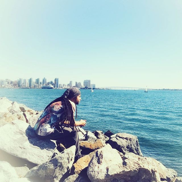 Taking a breather while exploring San Diego
