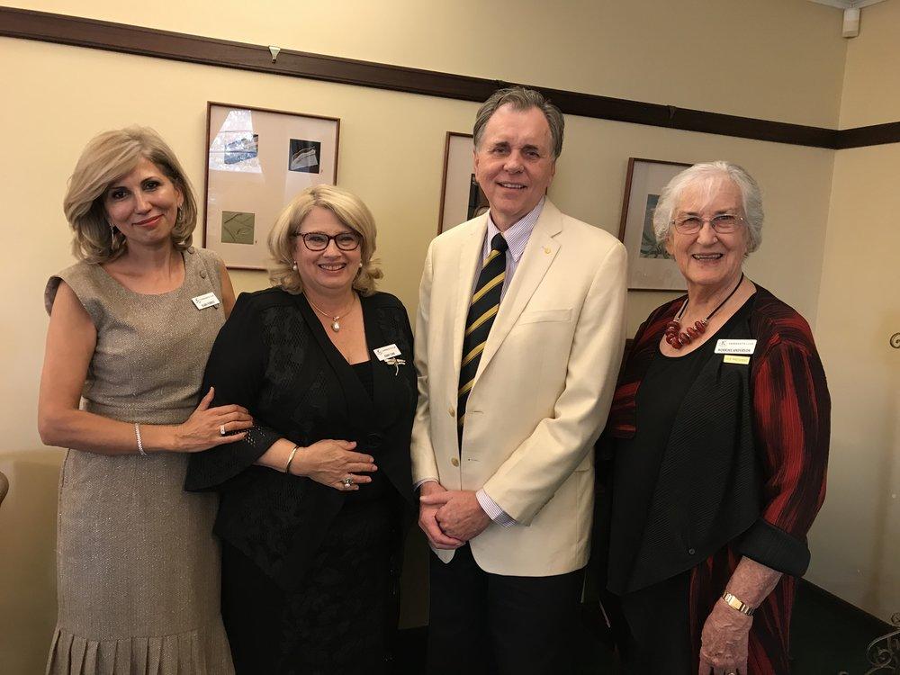 Left to Right: Ms Klara Forrest, Mrs Jenny Corr, Professor Barry Marshall, Dr Norrine Anderson