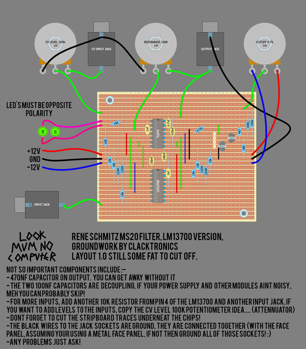 The stripboard layout!