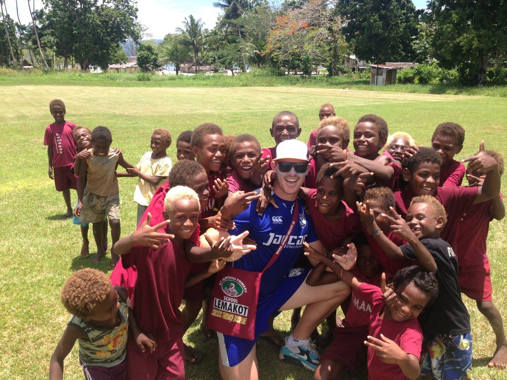 Being able to make a difference in peoples lives as a professional athlete is one of the most rewarding experiences. Helping to inspire the young kids in PNG.