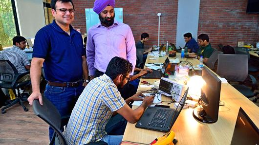 Pradeep Gaur | Mint | Getty Images A tech start-up at its office in Gurgaon, India