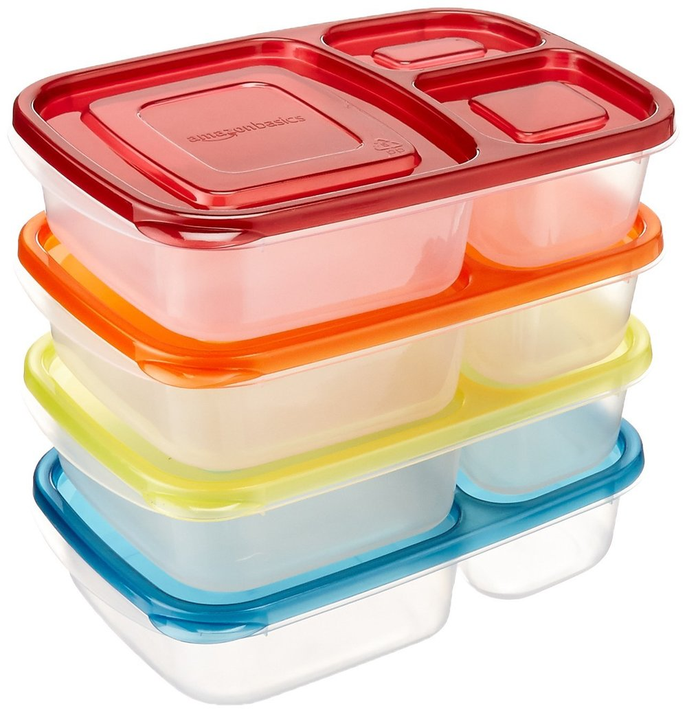 Making lunch ahead of time is a lifesaver. Having designated lunch containers is a plus as well. Everyone in the family knows that if there is food in here- it isn't up for grabs. I bought two sets. One for me and one for Declan. We usually have a four day school week so it works out perfectly.