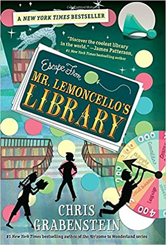 This book tells the story of an eccentric game designer's fabulous new library, and the twelve 12-year old children chosen to spend the night there. They're competing in a contest to see who can escape before time runs out, and the story's primary focus is Kyle, a kid who loves games but not reading.   There is a sequel  Mr. Lemoncello's Library Olympics a nd a third book out in October:  Mr. Lemoncello's Great Library Race